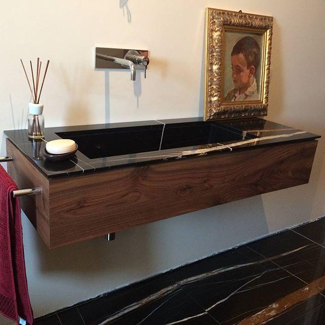#bathroom #neroaziza #marble #project #style #architecture #design #interiordesign #home #luxuryinterior #furniture  #artigianatoitaliano Read more at http://websta.me/n/difrosciamarmi#