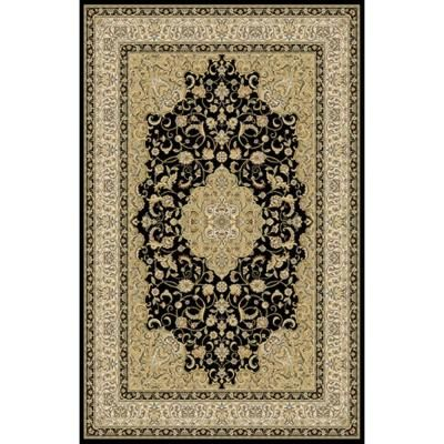 Home Dynamix Bazaar Trim Black Ivory 5 Ft 2 In X 7 Ft 2