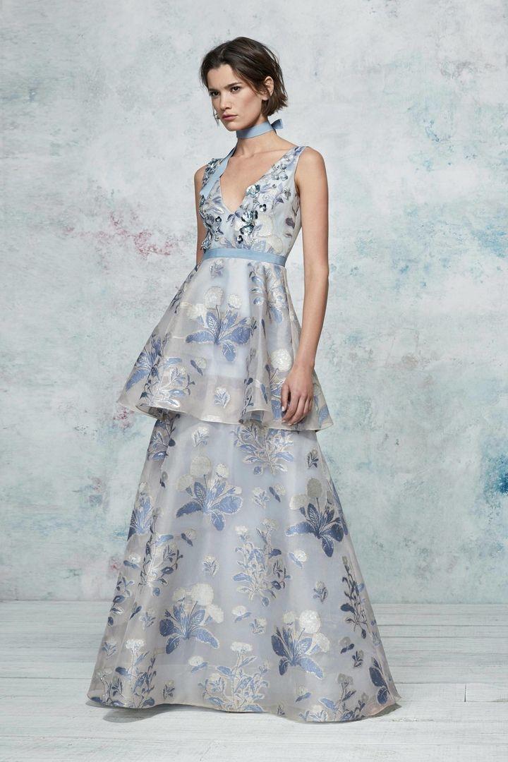 72804d5f59b4d81 Новая коллекция прекрасных коктейльных и вечерних платьев весна-лето 2019  Marchesa Notte.