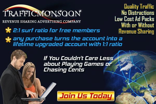 Get Paid to Advertise Onlinem Make Money Every Hour... Guaranteed.  Sign Up Now Below!!! >>> https://trafficmonsoon.com/land.php?id=1&ref=jedlloyd