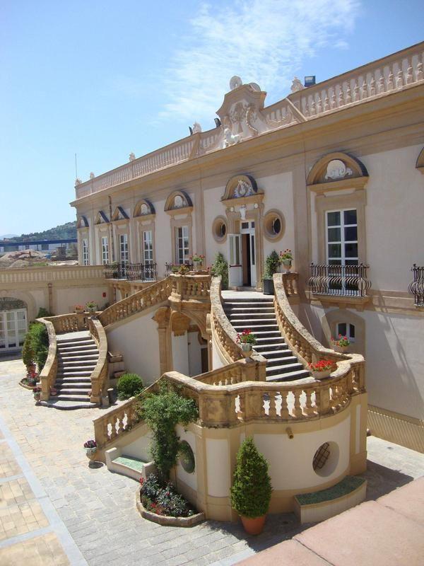 Villa Niscemi, facade, Palermo.