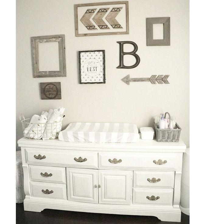 My favorite collage wall in the house. Mr. Beckhams nursery    Gender neutral baby nursery. Collage wall nursery. Baby room. Baby boy nursery. Rustic woodland nursery. Shabby chic home decor. Hobby lobby.