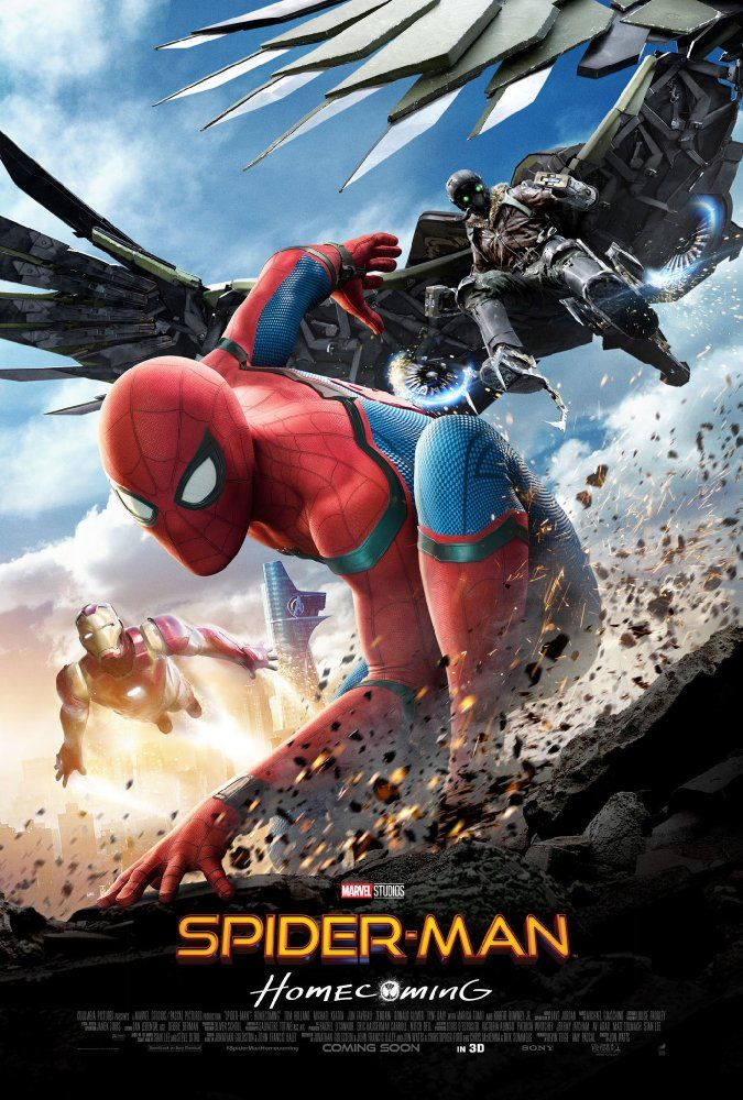 Starring Tom Holland, Michael Keaton, Robert Downey Jr.   A young Peter Parker/Spider-Man, who made his sensational debut in Captain America: Civil War, begins to navigate his newfound identity as the web-slinging superhero in Spider-Man: Homecoming.