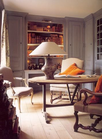 Study/Home office - Antique vineyard table