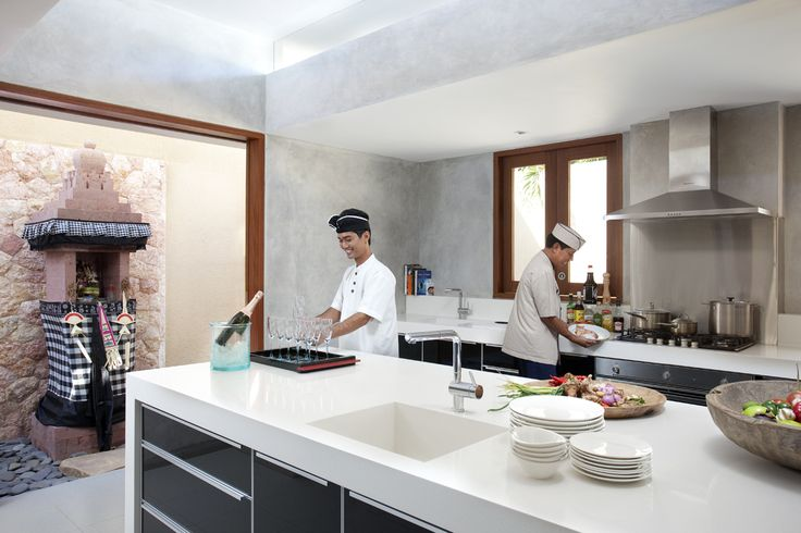 Villa Satria Bali- Villa chef at work! http://www.prestigebalivillas.com/bali_villas/villa_satria/49/reservation_and_rate/