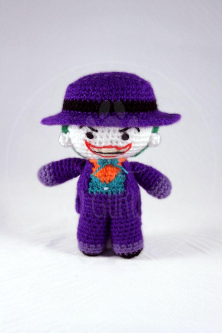 Joker - Batman, Jack Nicholson, Tim Burton - 14 cm (5.5 inches) amigurumi by PawGurumis on Etsy