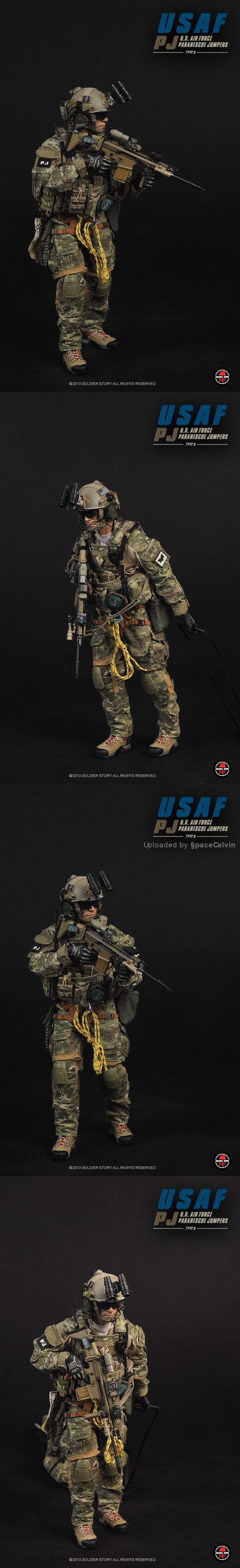 1/6 Scale Military Figure_U.S. Air Force Pararescue Jumpers USAF PJ(TYPE B) by Soldier Story