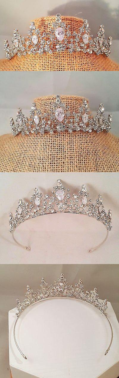 Bridal Accessories: Cz Silver Plated Bridal Tiara Wedding Cz Tiara Sweet 16 Tiara T-031 -> BUY IT NOW ONLY: $31.05 on eBay!