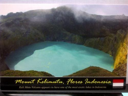 Mount Kelimutu, Flores - Indonesia Postcard.