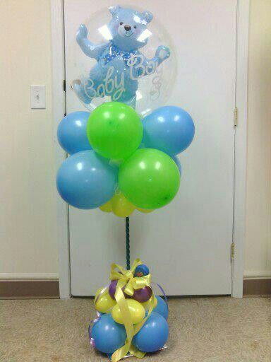 Balloon centerpiece - baby shower