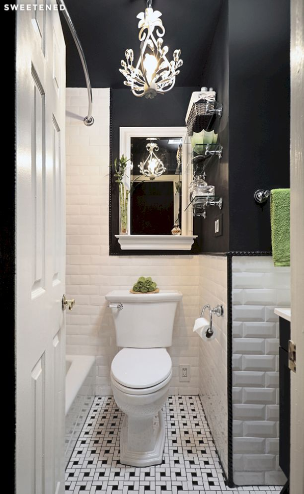 66 Black And White Modern Master Bathroom Ideas Part 96