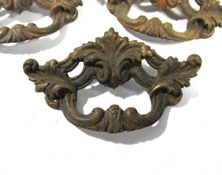 brass drawer pulls vintage french provincial antique hardware uk