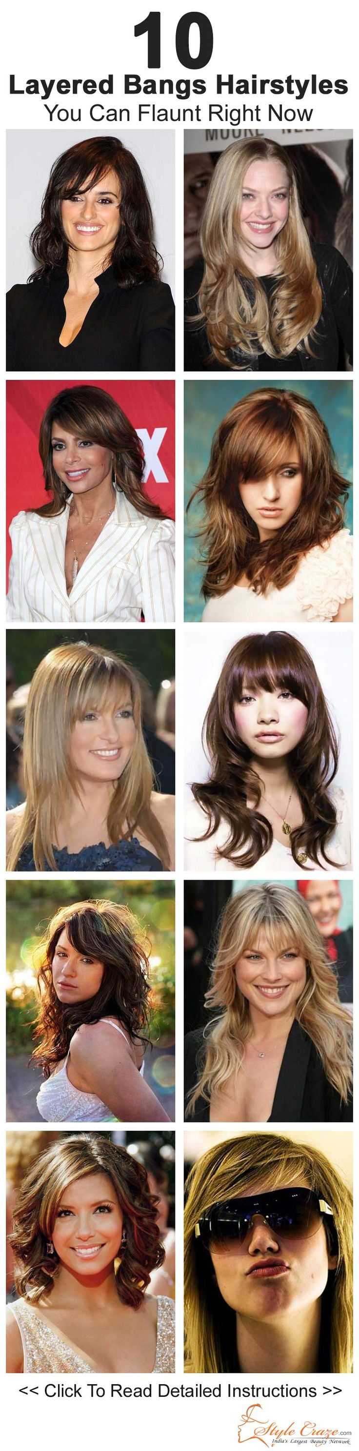 10 Layered Bangs Hairstyles You Can Flaunt When You Want ...regardless of what everybody else is doing!! :0}