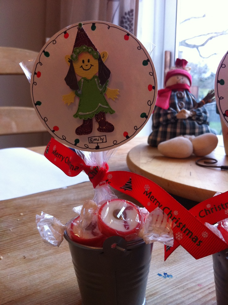 Personalised Christmas table decorations
