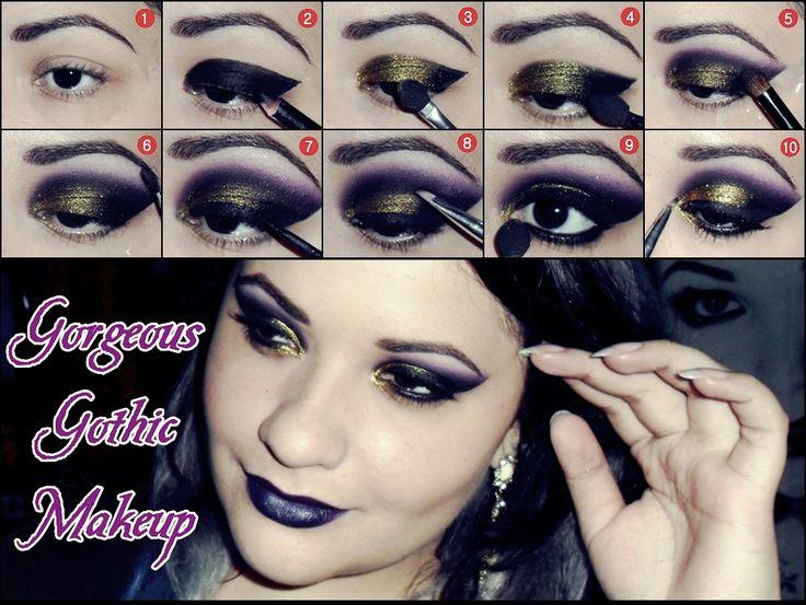 Gorgeous Gothic Video: http://www.youtube.com/watch?v=gH10yWXZPRA #GothMakeup #Purple