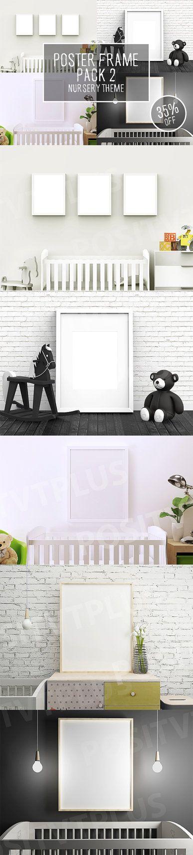 Poster Frame Pack 2  Nursery Theme / frame mockup / by Positvtplus