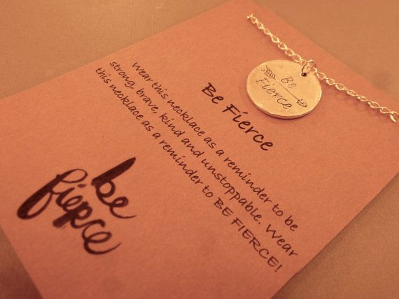 Be Fierce: Be Fierce Charm Necklace Wish by CraftsbyBrittany