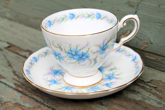 Vintage MidCentury Teacup & Saucer Tuscan by FairVeronaAntiques, $15.00