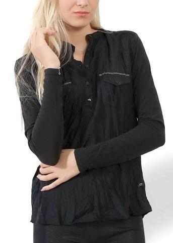 Skjorte sort 7344 Silk-Modal Shirt black