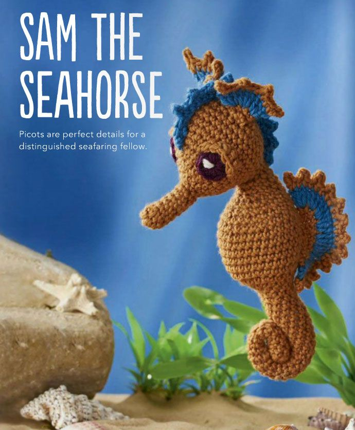 Sam the Seahorsecrochet kingdom shares a free pattern for this adorable little guy. Happy hooking!