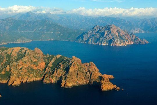 Girolata, Corsica from the sky www.louercorse.com