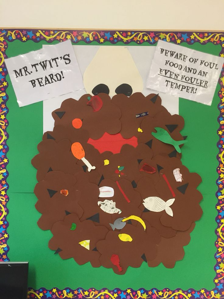 The Twits! Mr. Twit's foul beard. Activity for chapters 1-3