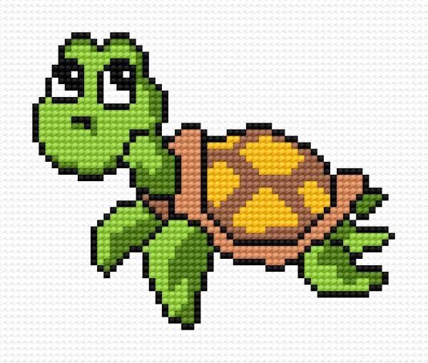 Small tortoise (animal, water, for children, sea, ocean)