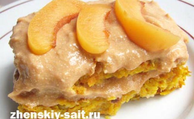 Низкокалорийный торт из моркови и яблока