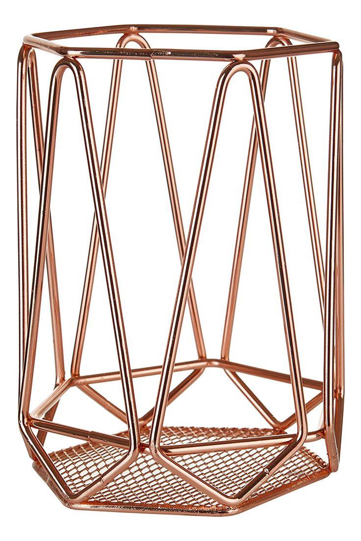 RoseGold Utensil Holder Copper Plated Chic Home Decor