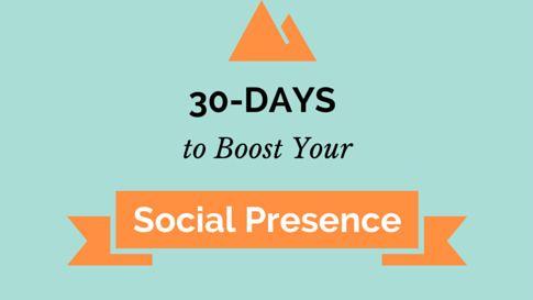 30-Days Worth of Advice to Improve Your Social Media Presence   https://www.truesocialmetrics.com/blog/thirty-advices-to-improve-your-social-media-marketing