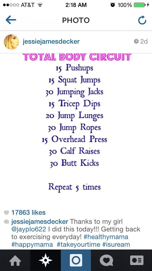 Jessie James Decker workout routine