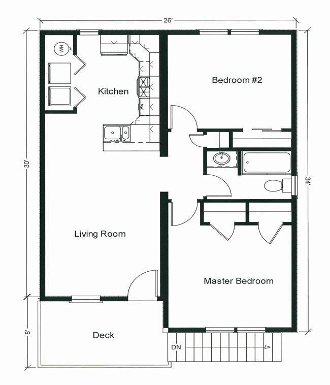 Small House Plans 2 Bedroom Inspirational 2 Bedroom Bungalow Floor Plan In 2020 Bungalow Floor Plans Modular Home Floor Plans Condo Floor Plans