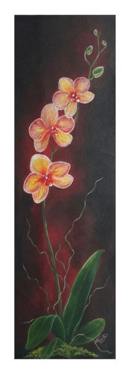 Buy Yellow Orchids, Acrylic painting by Theertha Raj on Artfinder. Discover thousands of other original paintings, prints, sculptures and photography from independent artists.