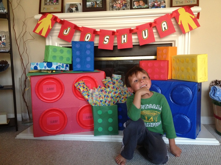 Lego decor for the Lego birthday party!