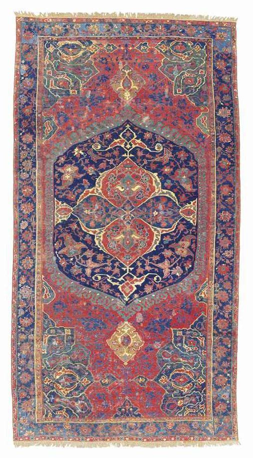Christies coming specialist antique rug and carpet sale 'Oriental Rugs & Carpets' will take place Tuesday 23 April 2013 at 10.30 am in King Street, London. This auction includes 205 lots and their catalogue is online. #OrientalRugs