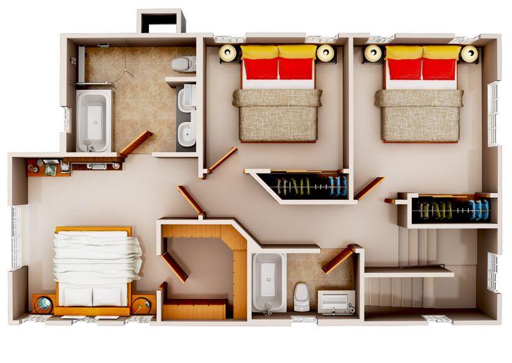 136 best Plan 3D images on Pinterest House blueprints, Future