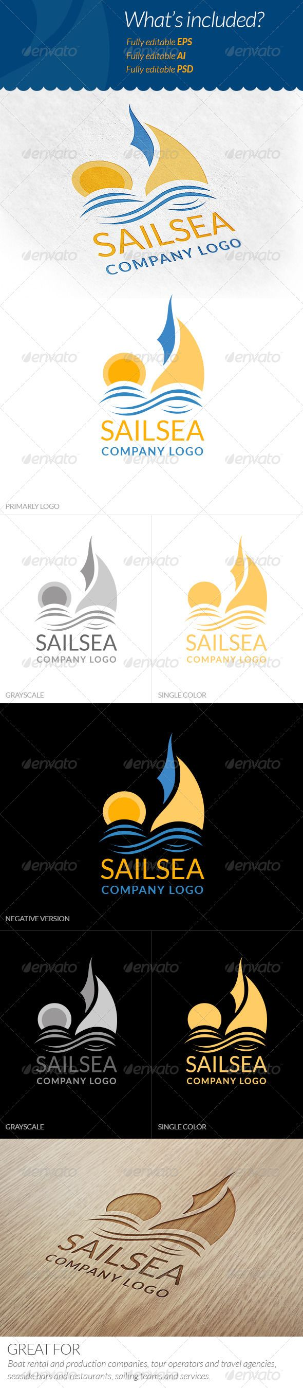 Sail Logo — Photoshop PSD #travel #restaurant • Available here → https://graphicriver.net/item/sail-logo/5993796?ref=pxcr