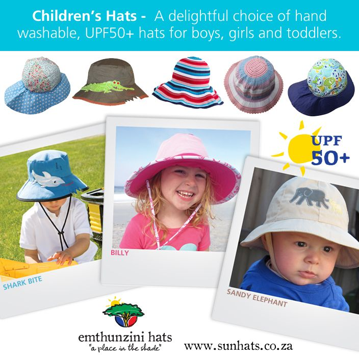 April, Easter month - featured children's hats. Bright and colourful collection.  www.sunhats.co.za