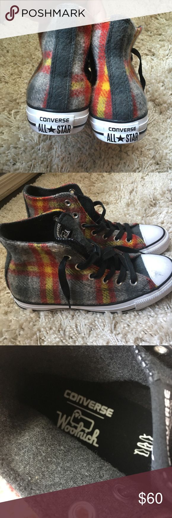 Converse Woolrich Unisex Men's 5.5 Women's 7.5 This converse is  used barely worn, no original Box, please take a good look on the picture as I capture the size and tag description.  This converse will surely keep your foot warm and still in style...Please like and share my item .. Converse Shoes Sneakers
