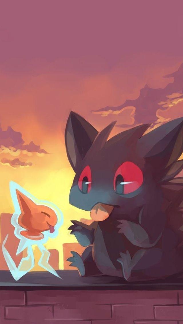 Gengar and rotom cute pokemon iPhone wallpaper mobile9