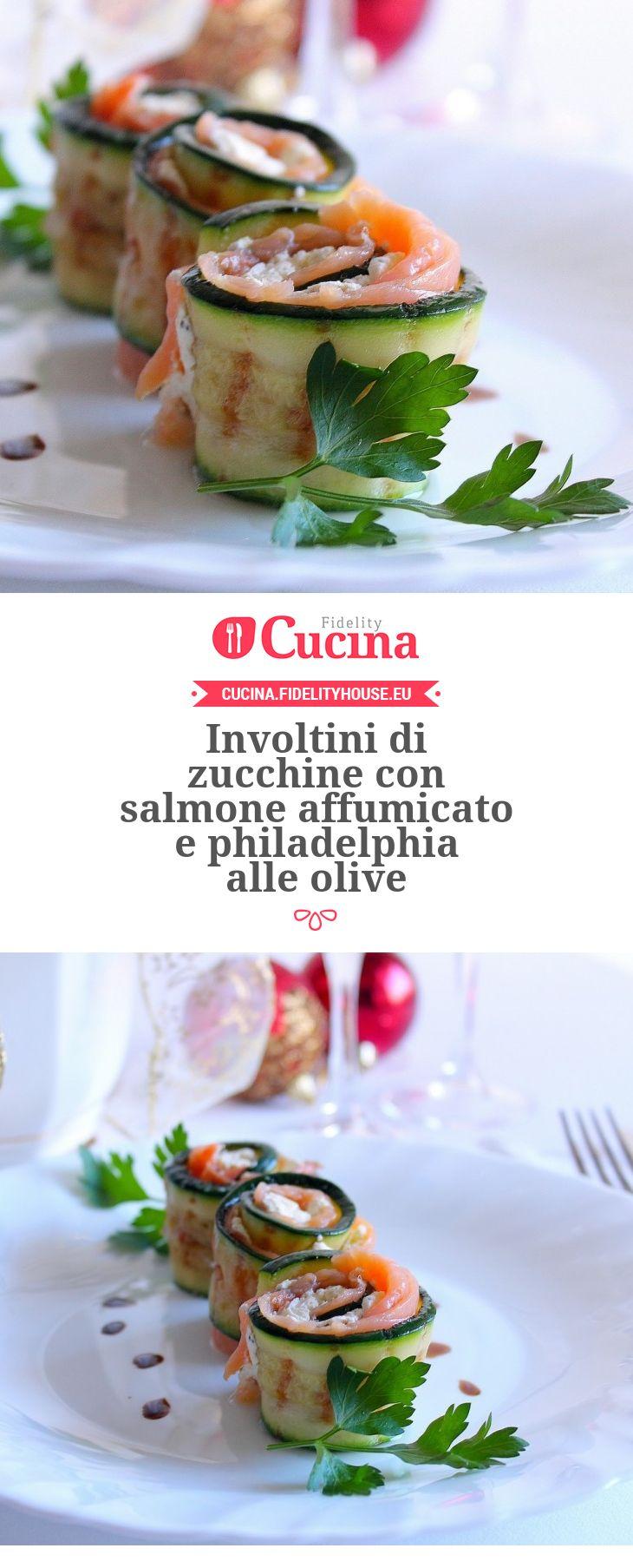 Involtini di zucchine con salmone affumicato e philadelphia alle olive della nostra utente Giovanna. Unisciti alla nostra Community ed invia le tue ricette!