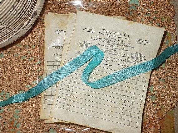 Vintage Tiffany receipts