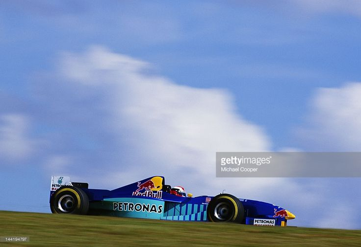 Johnny Herbert of Great Britain drives the #16 Red Bull Sauber Petronas Sauber C16 Petronas V10 during the Brazilian Grand Prix on 30th March 1997 at the Autodromo Jose Carlos Pace, Interlagos, Brazil.