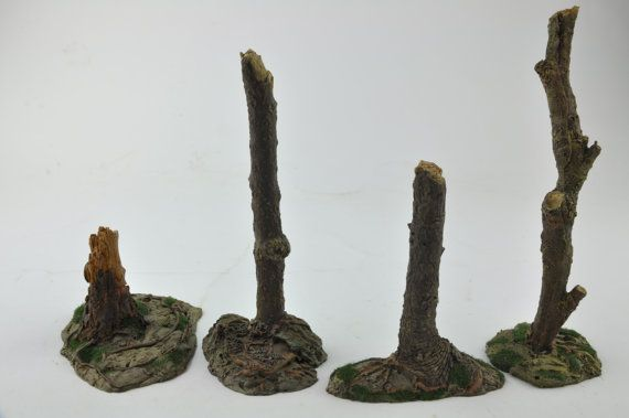 Tree Stumps  Trunks Roots  Forest  Resin Gameboard by resinscenery