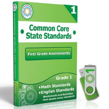 First Grade Common Core Assessment Workbook USB