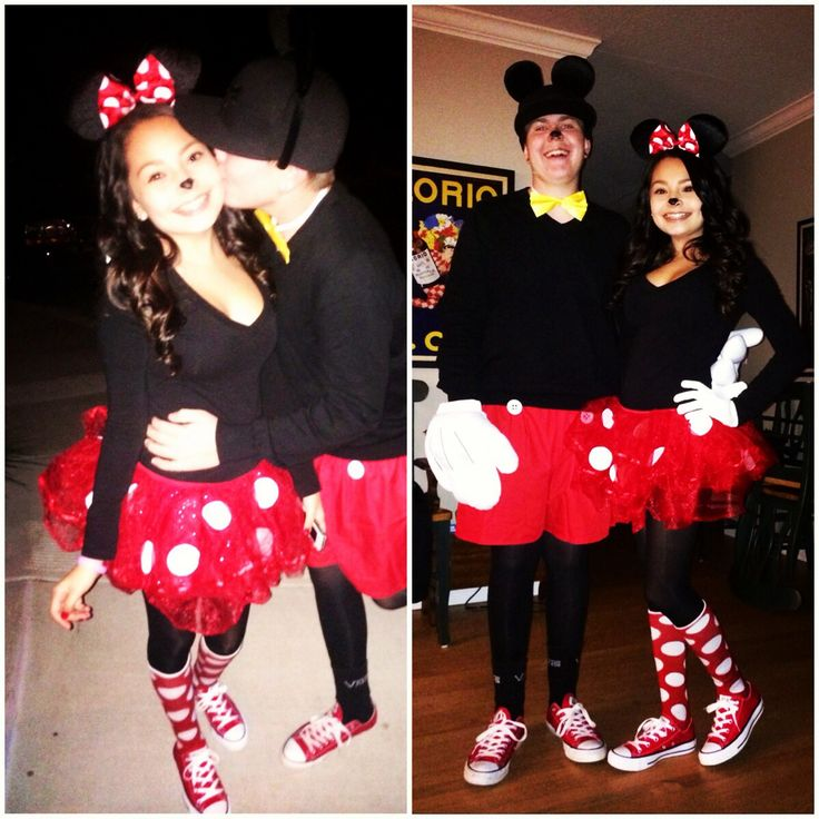 Minnie And Mickey Mouse Costumes Diy Halloween Costumes