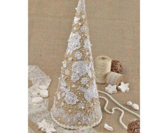 Albero di Natale domestico rustico arredamento di KseniyaRevta