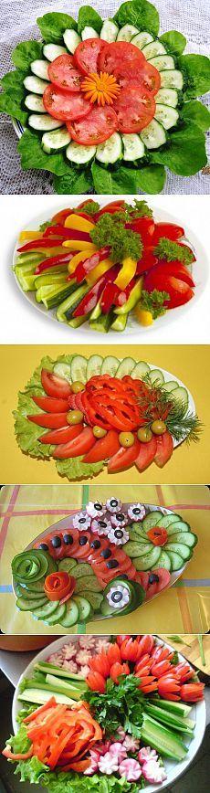 Красивое оформление овощных нарезок | Женский журнал