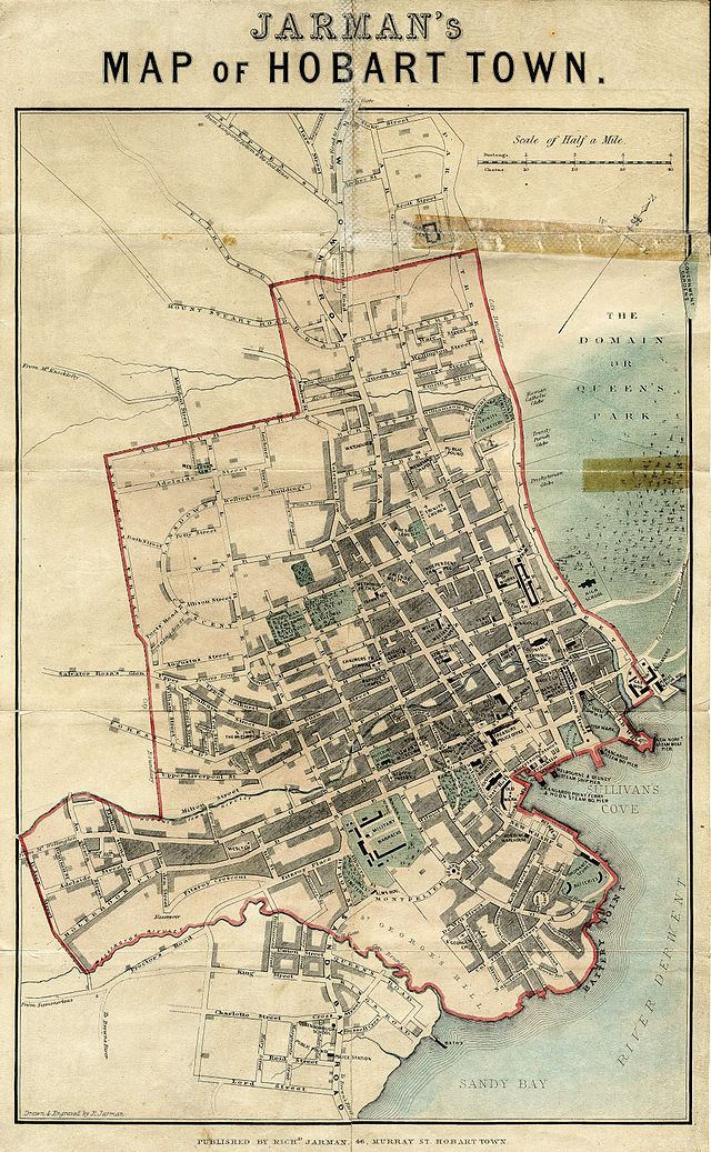 Jarman's Map of Hobart Town(1858) - Richard Jarman - Wikipedia, the free encyclopedia
