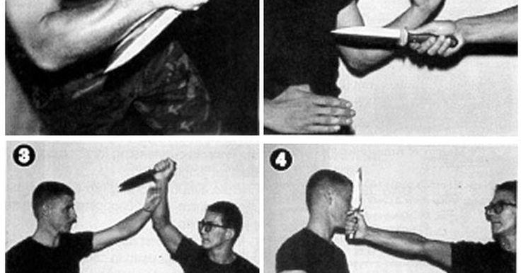 Técnicas militares con cuchillo de combate y empuñaduras. La lucha con cuchillos suele ser impredecible siendo que se trata de combate cuerpo a cuerpo, y el terreno y el entorno rara vez son ideales para ello. Así que esto significa que el agarre es increíblemente importante. Existen dos técnicas básicas para la lucha con cuchillos militares que se imparten en el Cuerpo de la Marina de los Estados ...